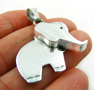 Sterling 925 Silver Elephant Drop Pendant