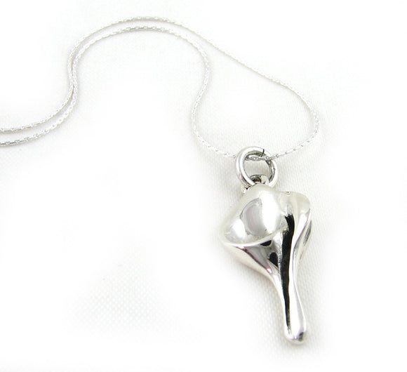 Calla Lily Flower 925 Sterling Silver Mexican Pendant
