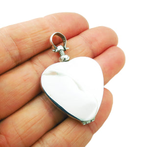 Polished 925 Silver Love Heart Locket Pendant