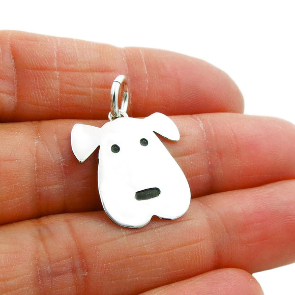 925 Sterling Silver Dog Animal Pendant