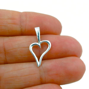 925 Silver Love Heart Pendant in a Gift Box