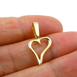 10ct Love Heart Yellow Gold Pendant