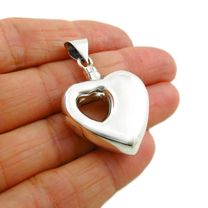 Love Heart 925 Sterling Silver Perfume Bottle Pendant Gift Boxed