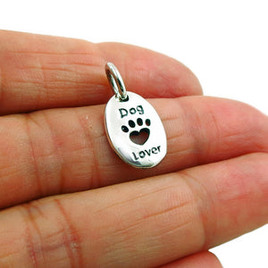 925 Sterling Silver Dog Animal Paw Print Pendant