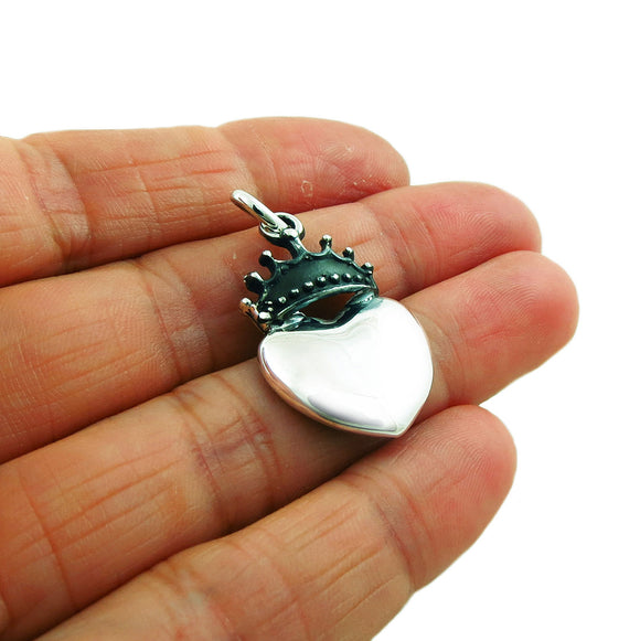 Coronation Heart 925 Sterling Silver Roy Nilson Pendant Gift Boxed