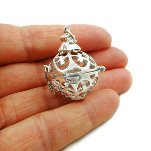 Angel Caller 925 Sterling Silver Ball Bead Pendant