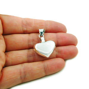 Love Heart 925 Sterling Silver Perfume Bottle Pendant