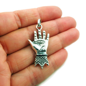 Maria Belen 925 Sterling Silver Hand of Hamsa Pendant