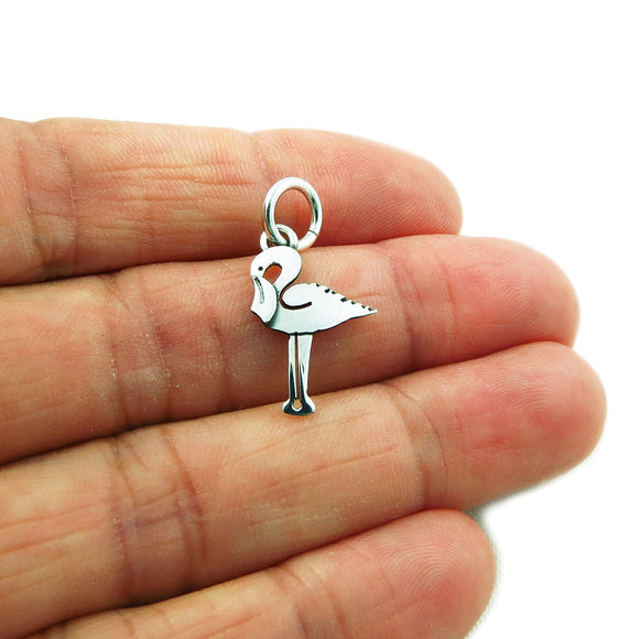 Stork 925 Sterling Silver Pendant in a Gift Box