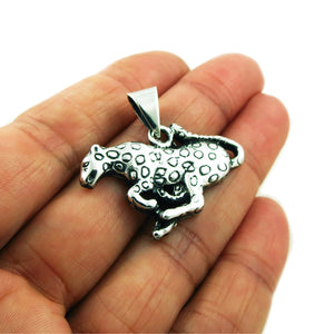Jaguar 925 Sterling Silver Animal Pendant in a Gift Box