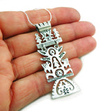 Tree of Life 925 Sterling Taxco Silver Drop Pendant