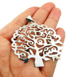Large Tree 925 Sterling Taxco Silver Pendant