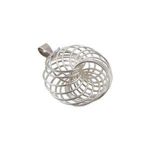 Infinity Circles 925 Sterling Silver Pendant Gift Boxed