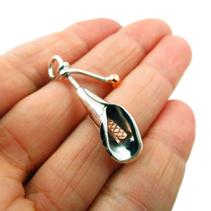 Calla Lily Flower 925 Sterling Taxco Silver and Copper Pendant