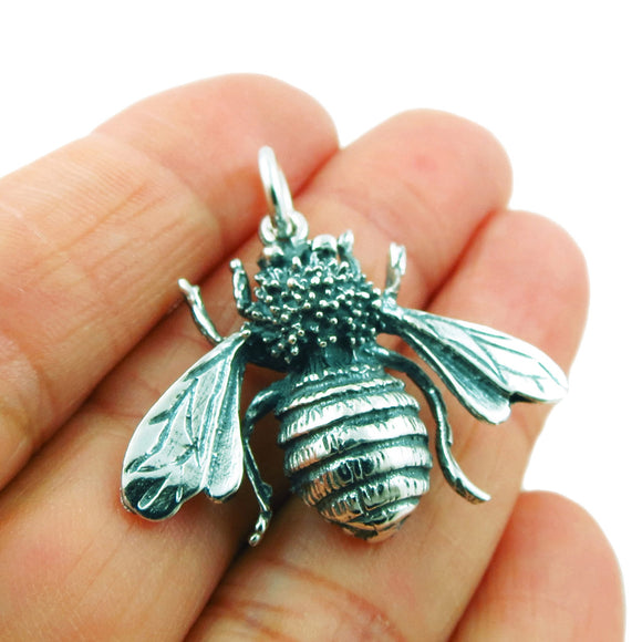 Bumblebee Insect Bee 925 Silver Pendant