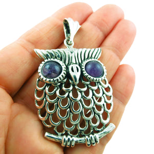 Owl Bird 925 Sterling Silver Pendant Gift Boxed