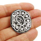 Maria Belen Lady of Guadalupe 925 Sterling Silver Brooch Pendant