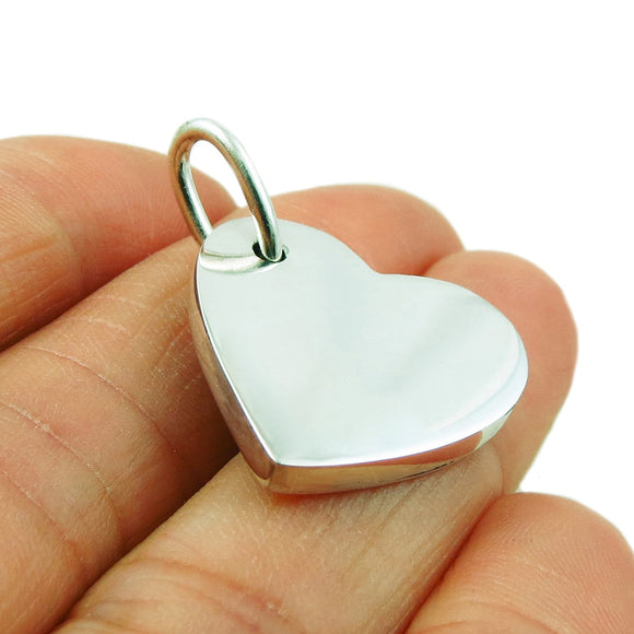 925 Solid Sterling Silver Love Heart Pendant Gift Boxed