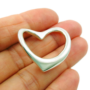 Love Heart 925 Sterling Silver Pendant in a Gift Box