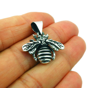 Honey Bee Insect 925 Silver Pendant in a Gift Box
