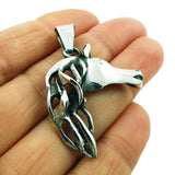 Equestrian Horse Head 925 Sterling Silver Pendant