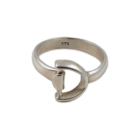Horse Snaffle 925 Sterling Silver Riding Bit Ring