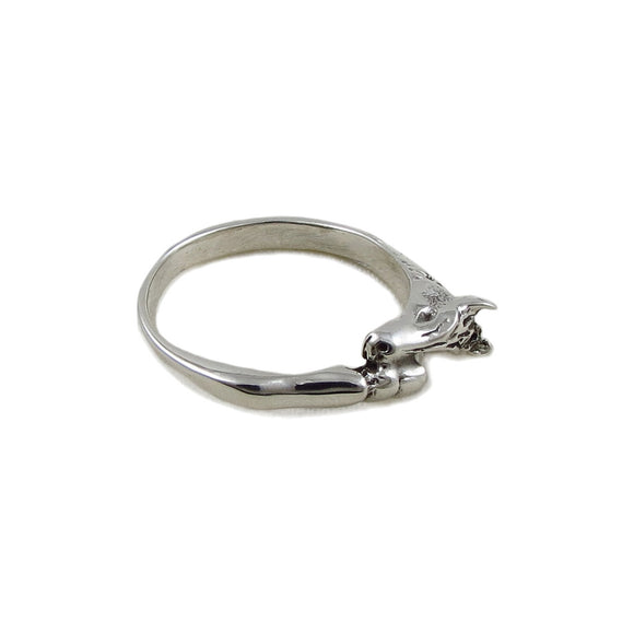 Horse Head and Hoof 925 Sterling Silver Wrap Design Ring