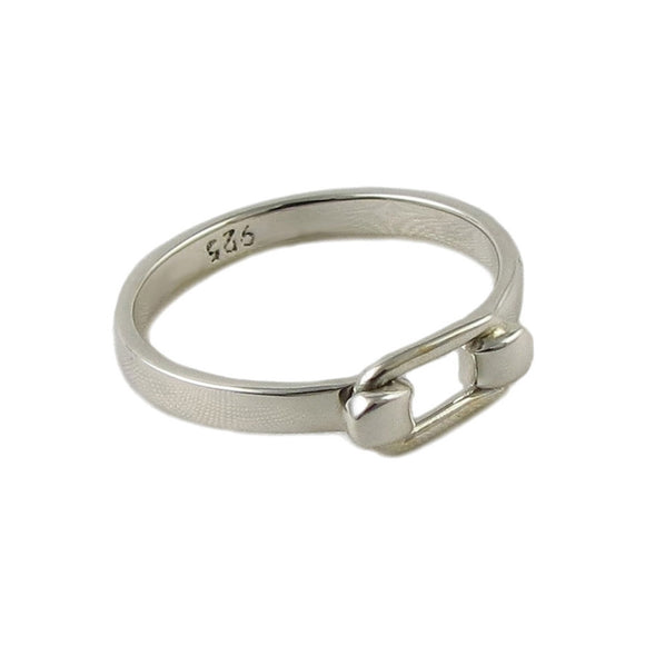 Hook and Eye 925 Sterling Silver Ring in a Gift Box