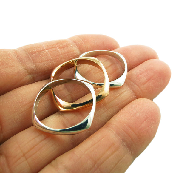 Triple 3 in 1 Copper and 925 Silver Ring in a Gift Box