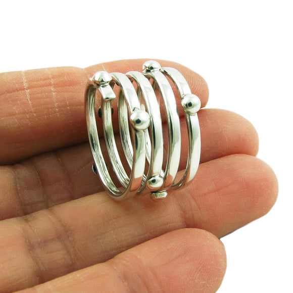 Wide Stacker 925 Sterling Silver Ring Gift Boxed