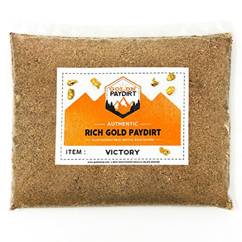 Goldn Gold Paydirt Victory Panning Pay Dirt Bag – Gold Prospecting Concentrate