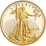 2018-W 1/10 oz Proof American Gold Eagle Coin (Box + Certificate of Authenticity)*