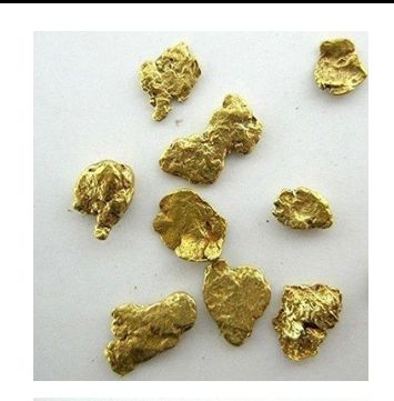 ALASKAN YUKON BC MESH # 8 NATURAL GOLD NUGGETS