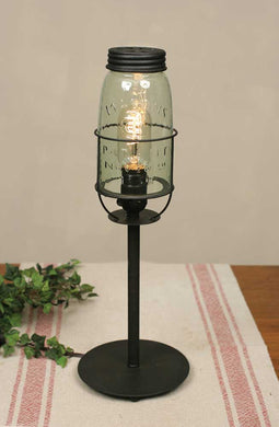 Tall Mason Jar Desk Lamp