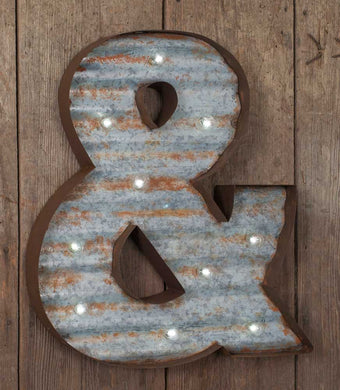LARGE light up Ampersand Marquee Sign