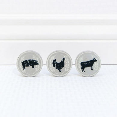 ~ * Farm Animals Wooden Magnets