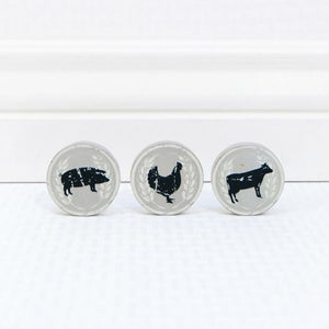 Sale! Farm Animals Wooden Magnets