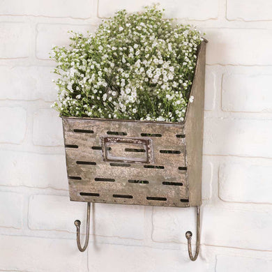 Perforated Wall Caddy with Hooks