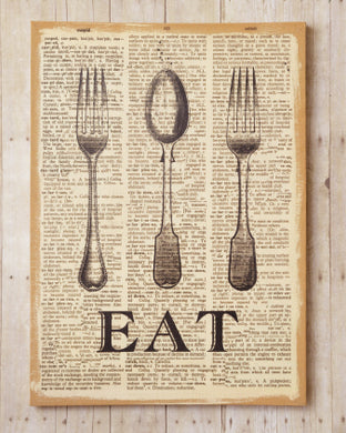 Spoon & Fork Eat Sign