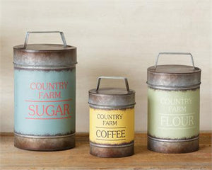 Country Farm Canisters (set of 3)