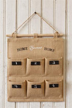 -$$ Wall Organizer - Fabric Chalkboard Labels Home Sweet Home - The Weathered Loft LLC
