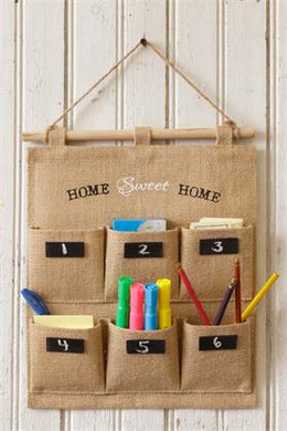 -$$ Wall Organizer - Fabric Chalkboard Labels Home Sweet Home