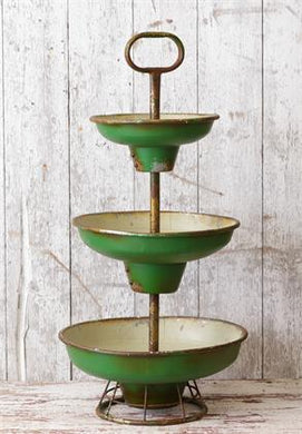 Tiered Green Bowls
