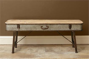 Galvanized Suitcase Style Bench