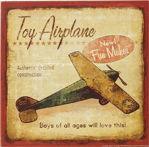 Toy Airplane Sign