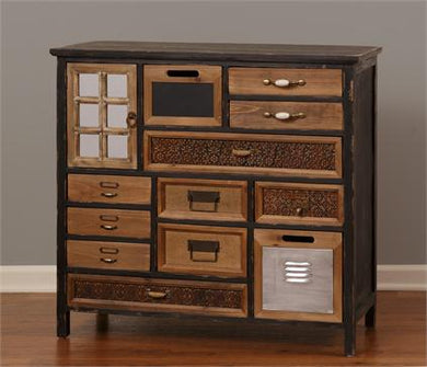 12 Drawers Vintage Cabinet - The Weathered Loft LLC