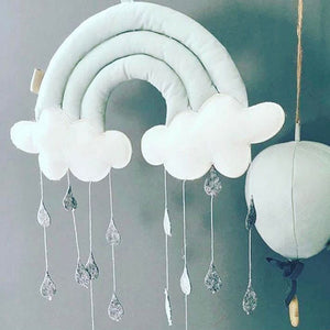 Kids Rainbow Cloud Wall Hanger/Mobile (multiple colors available)