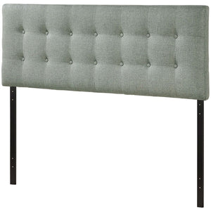 Full size Grey Fabric Button-Tufted Upholstered Headboard - The Weathered Loft LLC