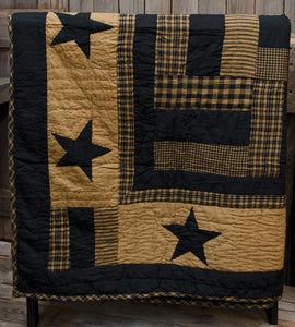 Delaware Star Quilted Throw      - The Weathered Loft LLC