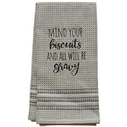 Mind Your Biscuits Dish Towel, 20x28